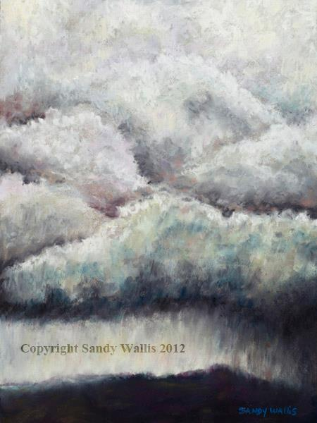 Rain Clouds – pastel by Sandy Wallis