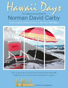 Norman David Carby Exhibit Poster